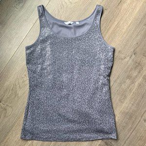 REITMANS Silver sequin tank top lined M
